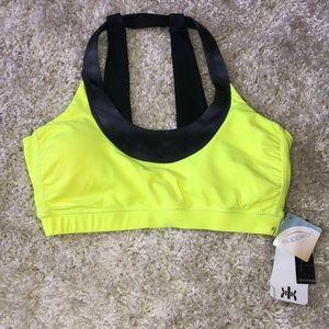 Kyodan sports bra size M NWT bright yellow lined